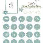 Free Printable Birthday Countdown Customize Online Printable Countdown