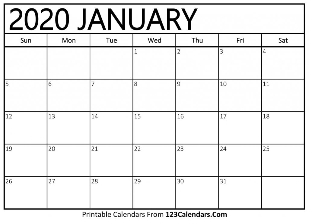 free printable calendar 123calendars printable calendar 2020 that you can type on