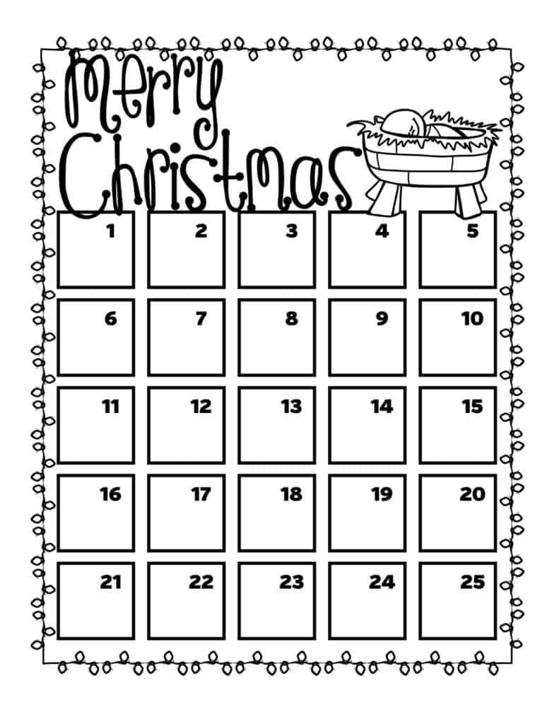 free printable christmas or advent countdown calendars for kids countdown calendar printable