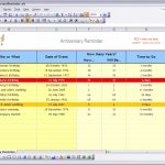 Free Ready To Use Excel Spreadsheet Templates Downloads And Birthday And Anniversary Tracker Template