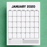 Free Vertical Calendar Printable For 2020 Crazy Laura Calendar Controls For Access 2020