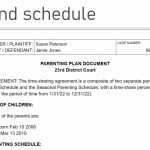 How To Make A Child Custody Calendar Create Print Easily San Diego Court Calander