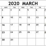 March 2020 Calendar Excel Sheet Free Printable Calendar Printable Countdown Calendar To March 25th
