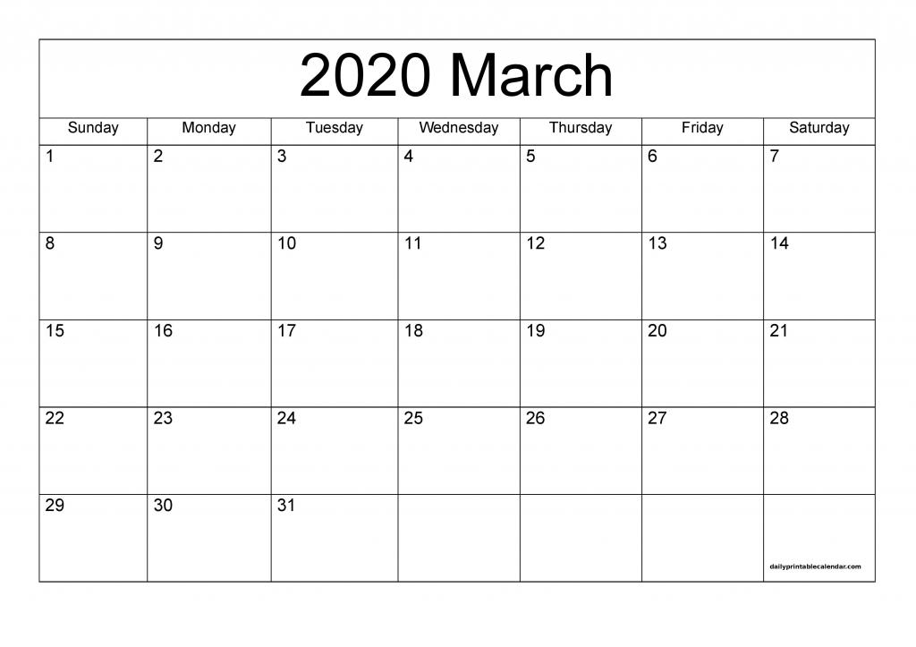 march 2020 calendar printable blank templates 2020 calendar printable calendar 2020 that you can type on