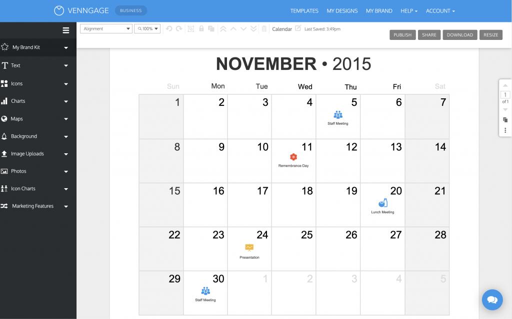 online calendar maker venngage create your own printable calendar free