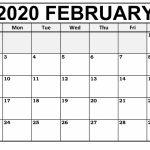 Printable February Calendar For 2020 Waterproof Paper 12 Waterproof Paper August 2020