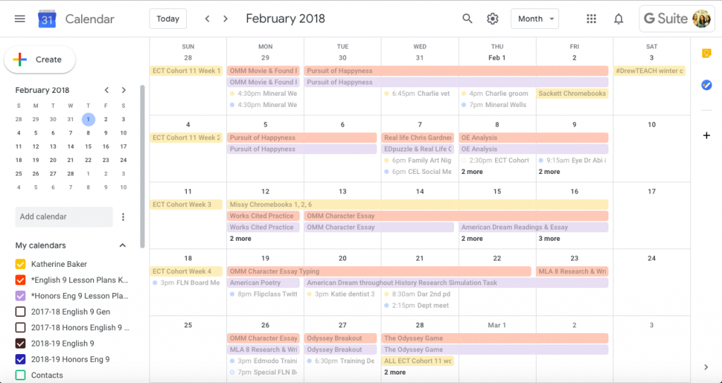 quick paperless lesson planning with google calendar and lesson plans on calendar 1