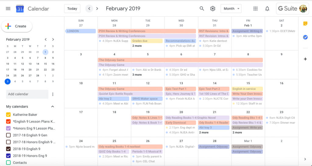Quick Paperless Lesson Planning With Google Calendar And Lesson Plans  On Calendar