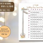 Rustic Wedding Calendar Printable Wedding Calendar Countdown Calender To Wedding Printable