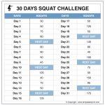Squat Challenge Tumblr Image Calendar 30 Day Squat Squat Challenge Callendar