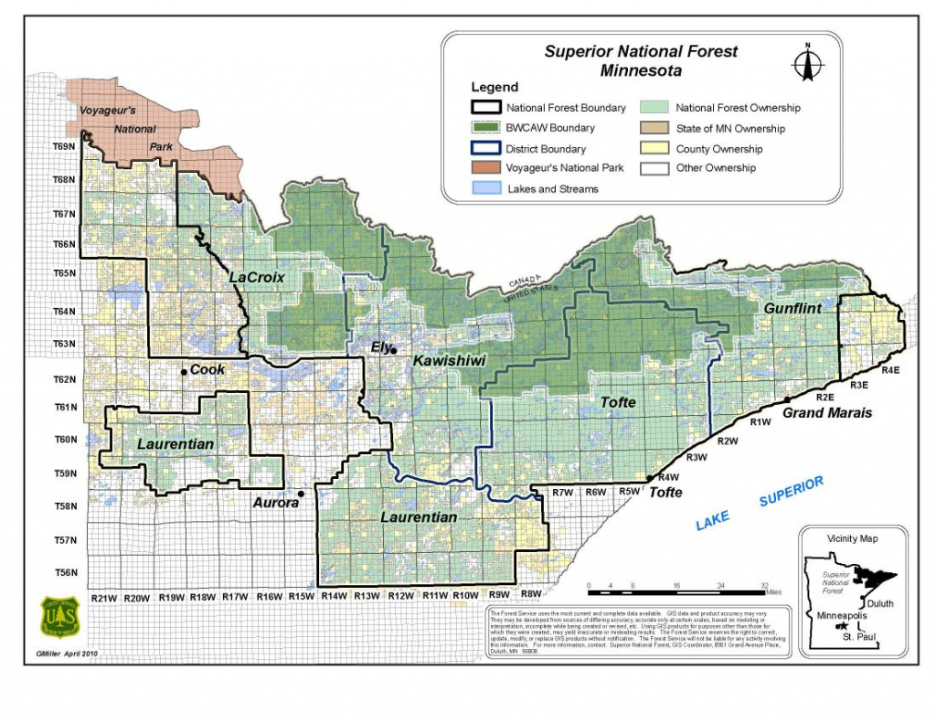 superior national forest districts superior and district