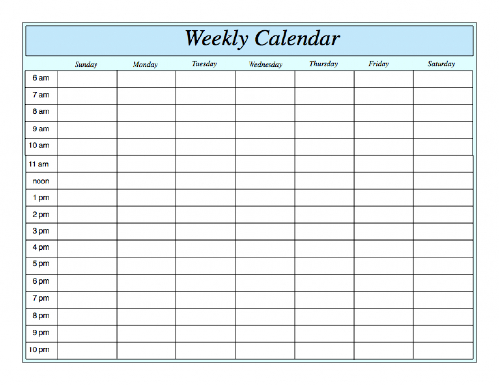 weekly planner template with hours caflei weekly calendar with hours printable