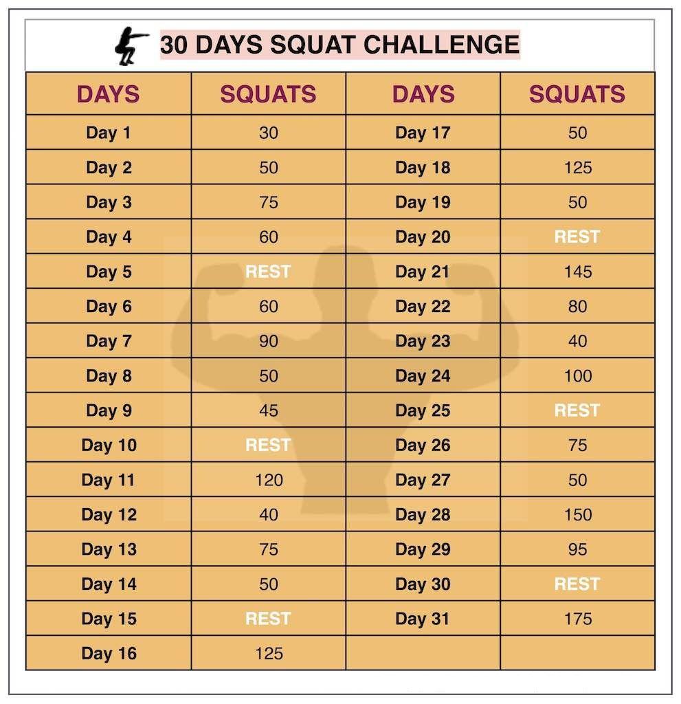 workout calendar template squat challenge workout squat challenge callendar