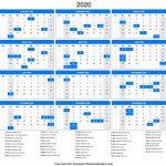 Yearly 2020 Calendar Templates Helena Orstem Medium 8 X 11 5 Printable Calendar