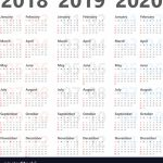 Yearly Calendar For Next 3 Years 2018 To 2020 Calender For The Next 5 Years To Print