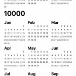 Your Iphone Calendar Can Go Up To The Year 10000 Incase You The 10 000 Year Calendar