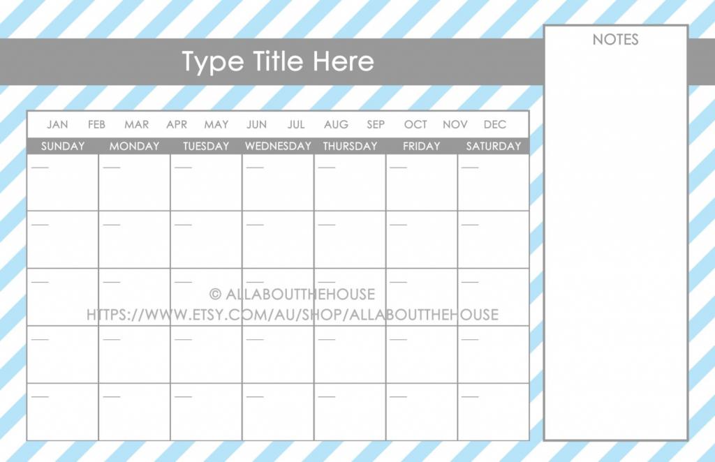 11x17 calendar template word printable 11x 17 blank calendar