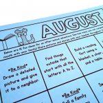 1st Grade Homework Alternatives The Brown Bag Teacher Monthly Homework Calendar First Grade