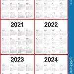 2019 2020 2021 2022 2023 Templa 2024 Next 5 Year Calender