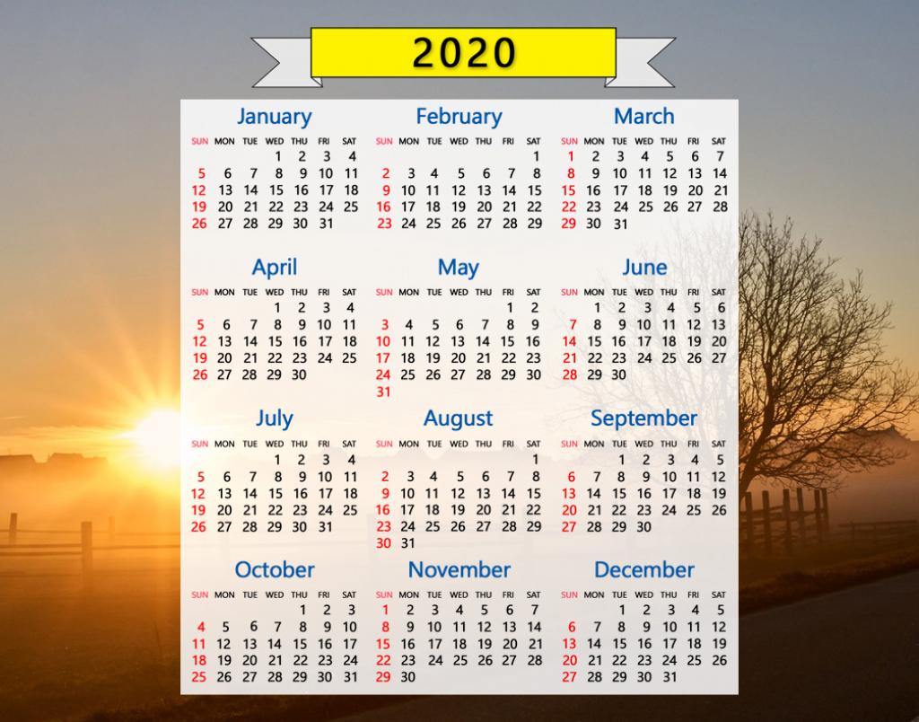 2020 calendar beautiful sunrise sunset field trees may 2020 calendar printable sunrise sunset