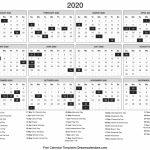 2020 Calendar Day Count Kalender 1