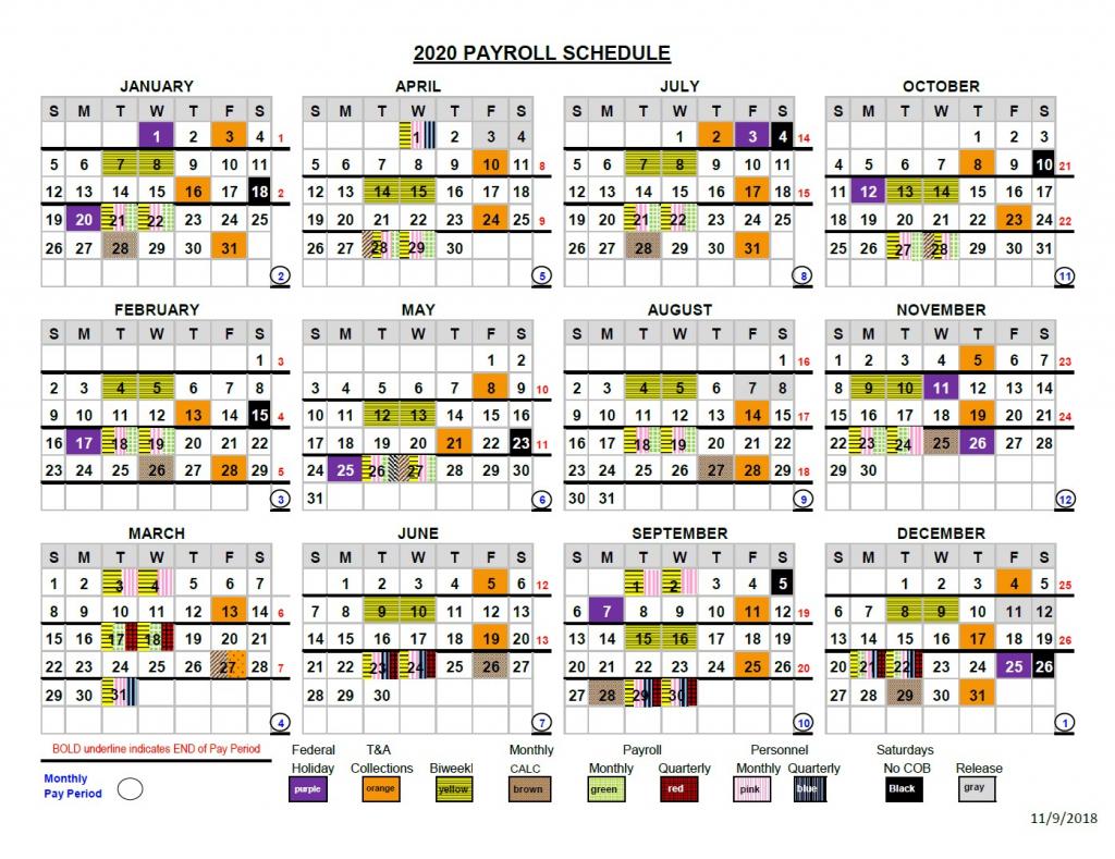 2020 pay periods calendar opm paid calendar 2020