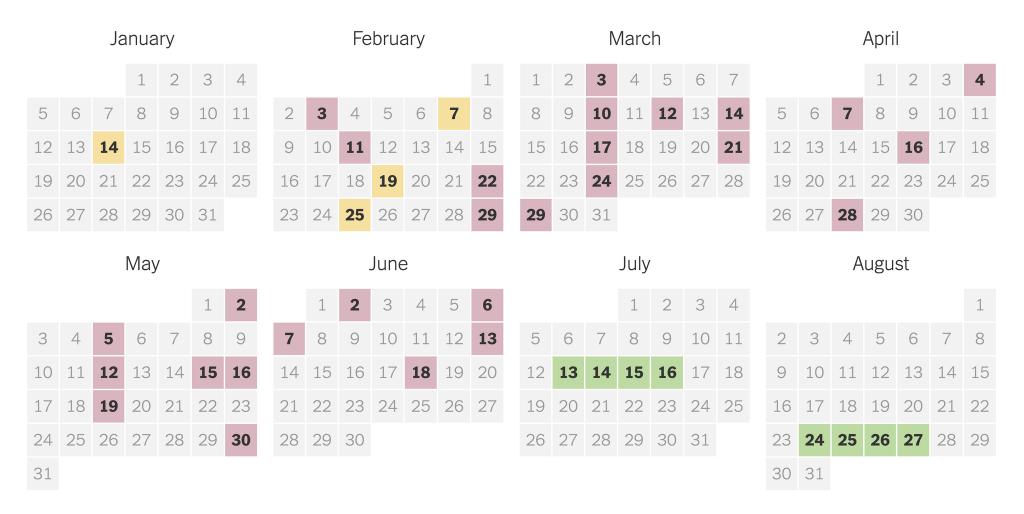 2020 presidential primary election calendar the new york times house of rep calendar 2020