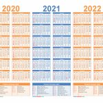3 Year Calendar 2020 To 2022 Printable Free Printable 2020 Multi Year Calendars To Download