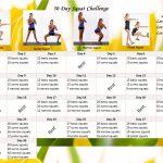 30 Day Challenge Eunicakes The 30day Squat Challenge Followalong Calendar