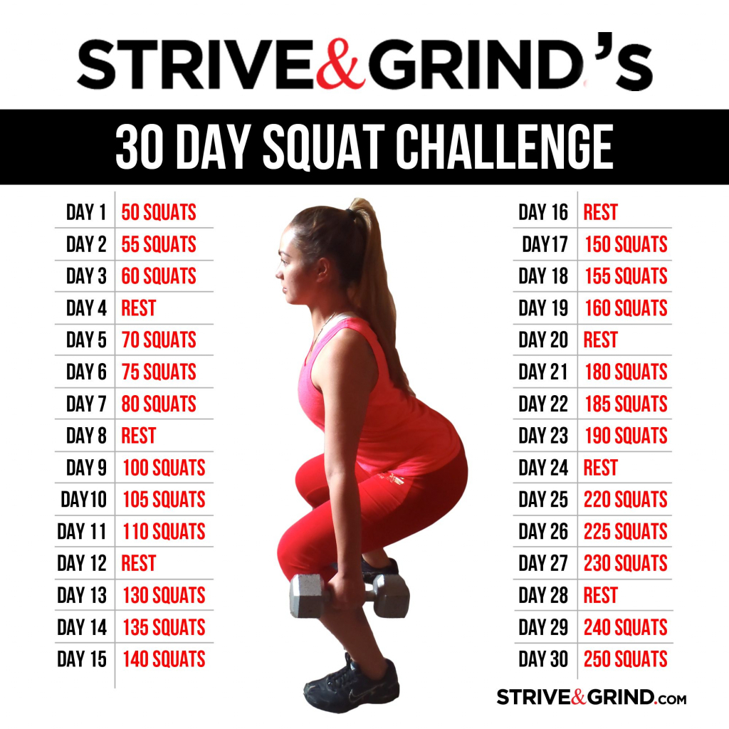 30 day squat challenge before and after google search the 30 day squat challenge follow along calendar
