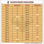 30 Day Squat Challenge Printable Calendar Squat Workout At 30 Squat Challenge Printable Copy