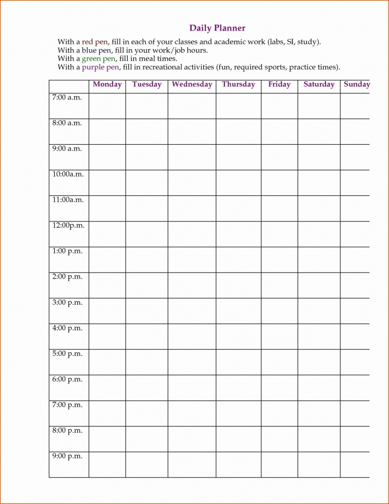 7 day 24 hour calendar template free calendar template example hour by hour calender