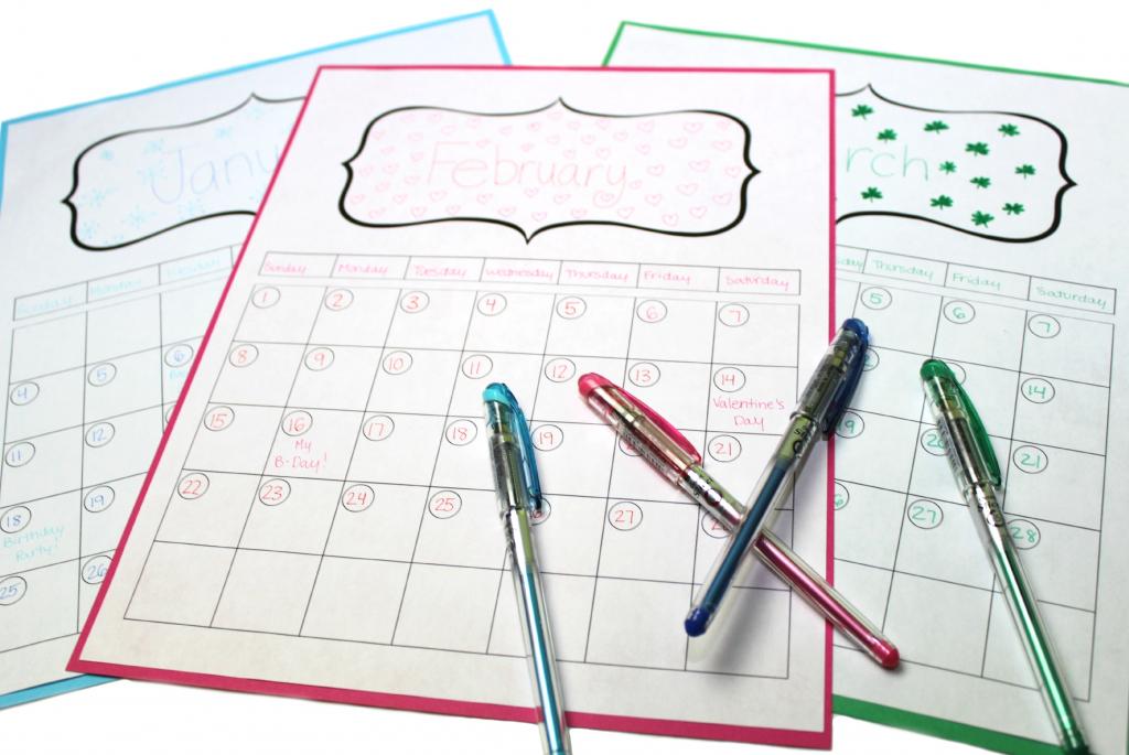 8 make your own design 2015 calendar printable images create your own calendar printable