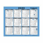 At A Glance 2020 Walldesk Calendar Year To View Gloss Board Binding 254x210mm Whiteblue Ref 930 2020 At A Glance Desk Calendar 2020