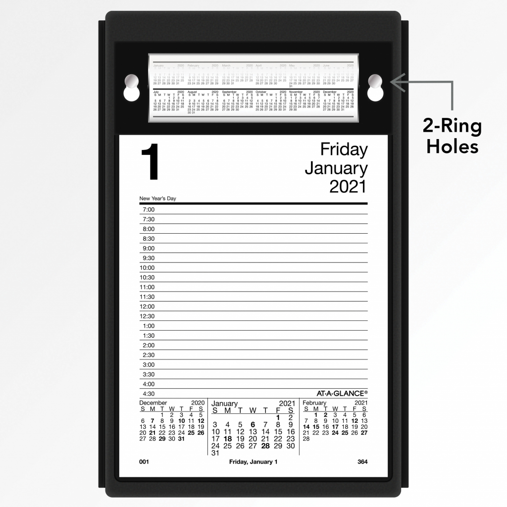 at a glance daily pad style desk calendar refill yes daily 1 year january 2020 till december 2020 700 am to 430 pm 1 day single page at a glance desk calendar 2020