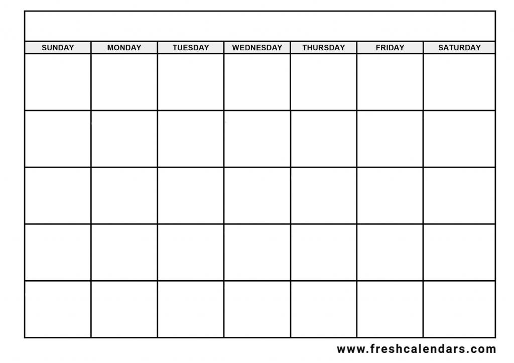blank days of the week calendar free calendar template example prinatble days of the week calender