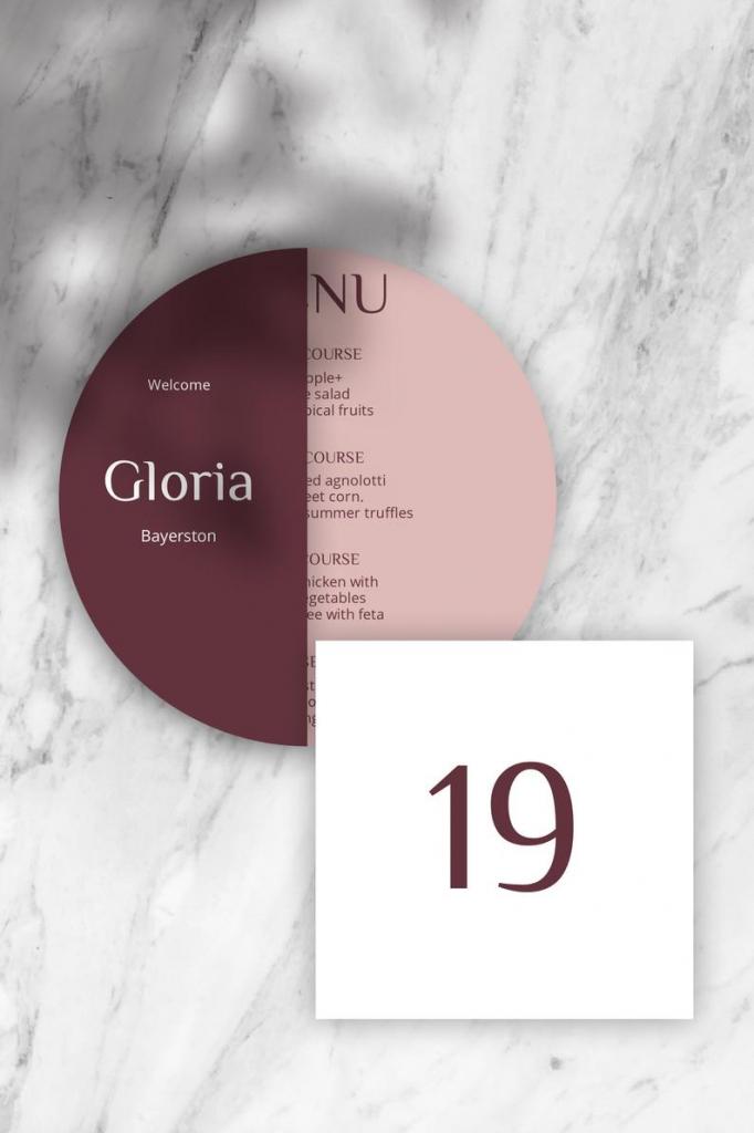 burgund modern minimal wedding table number template wedding countdown calendar images templates