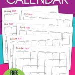 Custom Editable 2020 Free Printable Calendars Sarah Titus Build Your Own Calendar Template Printable