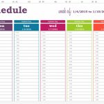Daily Planner With Time Slots Template Weekly Calendar Week Day Calendar With Time Slots