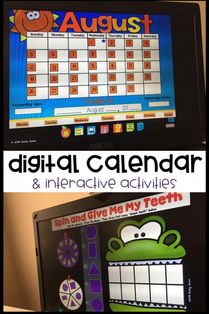 digital calendar powerpoint presentation calendar math calendar math smart exchange