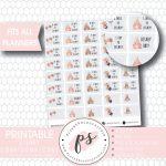 Disney Princess Countdown Planner Icons Digital Printable Planner Stickers Jpgpdffree Cut Fileblackout Files Printable Disney Princess Countdown Calendar Free 2 Weeks