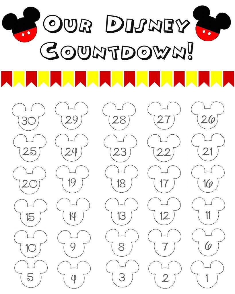 disney world countdown calendar free printable disney disney world printable countdown calendar