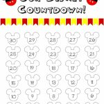 Disney World Countdown Calendar Free Printable With Picture Holiday Countdown Calendar