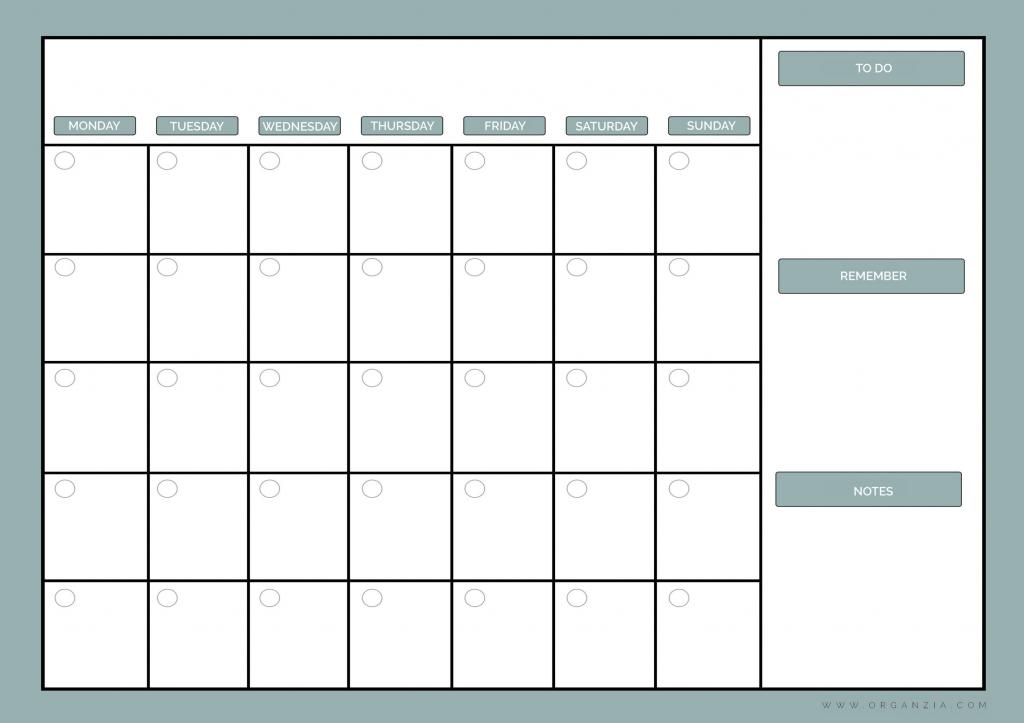 diy monthly planner dry erase calendar free printable build your own calendar template printable