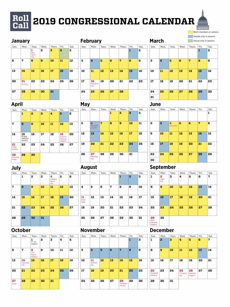 download roll calls 2019 congressional calendar roll call house of rep calendar 2020