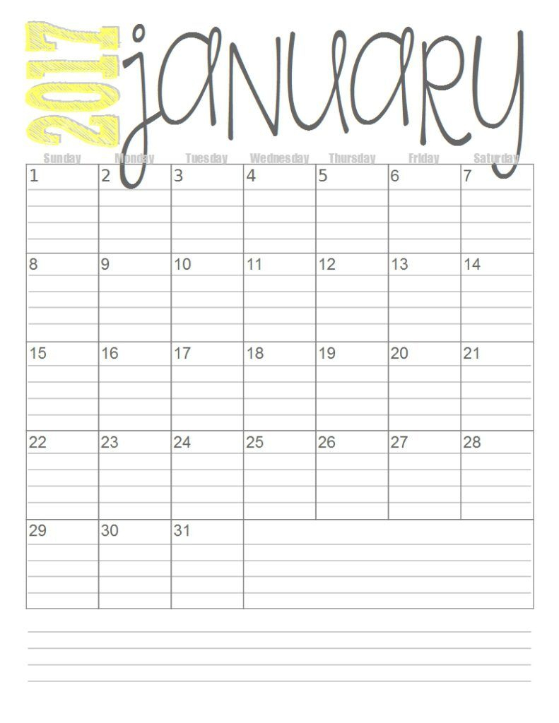 free 2017 monthly calendars with images free printable printable calendar with lines free