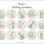 Free Printable Birthday Countdown Customize Online Birthday Countdown Calendar 1