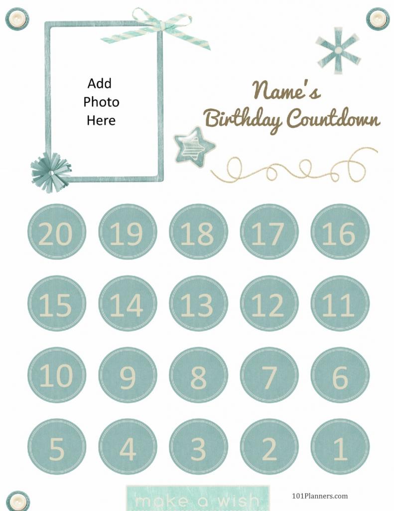 free printable birthday countdown customize online birthday countdown calendar