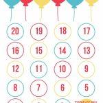 Free Printables Birthday Countdown Free Birthday Stuff Birthday Countdown Calendar