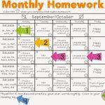Monthly Hw Sample 16001337 Pixels First Grade Monthly Homework Calendar First Grade